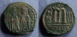 Ancient Coins - Byzantine Empire, Focas 602-610, Follis