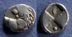 Ancient Coins - Thrace, Chersenesos 386-338 BC, Hemidrachm