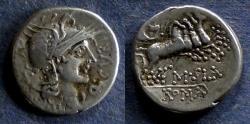 Ancient Coins - Roman Republic, Q Curtius 116-115 BC, Denarius