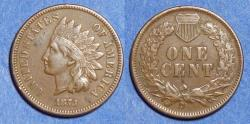 Us Coins - United States,  1873 Open 3,  Indian Head Cent