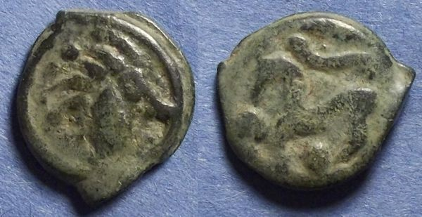 Ancient Coins - Gaul, Senones Circa 50 BC, 19mm