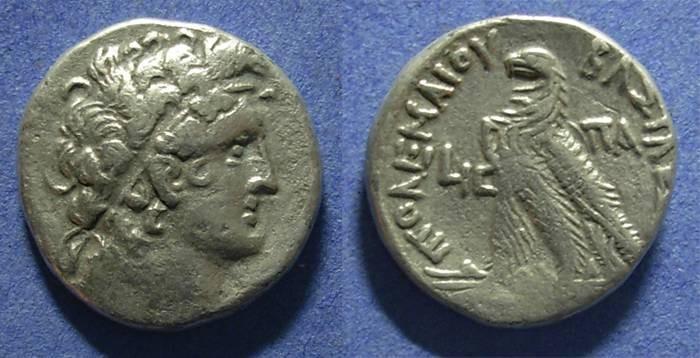 Ancient Coins - Egypt, Ptolemy X 106-88 BC, Tetradrachm
