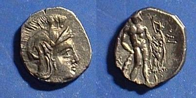 Ancient Coins - Heraclea Lucania - Diobol  400-300BC