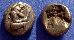 Ancient Coins - Macedonia Lete 1/8th stater 530-480BC