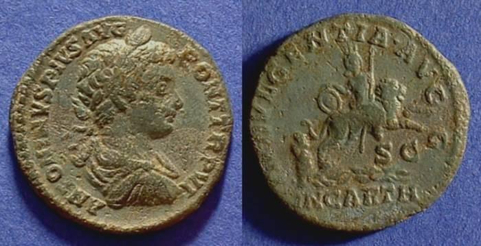 Ancient Coins - Caracalla 198-217 - As - Dea Caelestis reverse - Ex CNG Auction 69