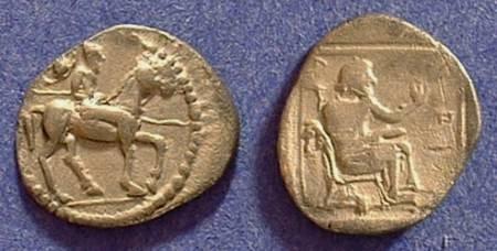 Ancient Coins - Larissa Thessaly Trihemiobol Circa 500-479BC