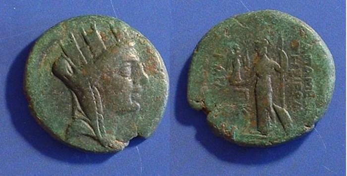 Ancient Coins - Apameia Syria AE22 Circa 40 BC