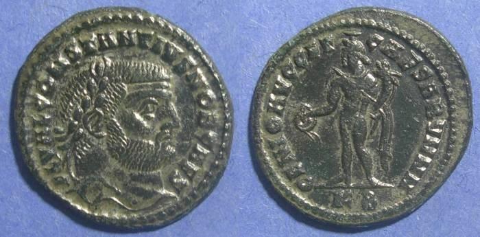 Ancient Coins - Roman Empire, Constantius I (as Caesar) 293-305 AD, Follis