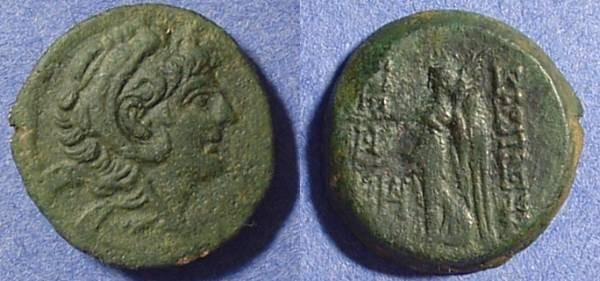 Ancient Coins - Seleucid Kingdom - Alexander II Zebina 128-123 BC AE21