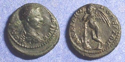 Ancient Coins - Diadumenian (Caesar) 217/8  AE16 of Marcianopolis with Cupid