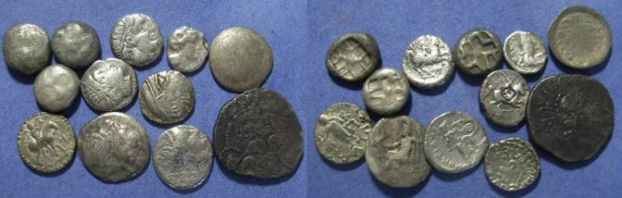 Ancient Coins - 12 Greek (and related) Silver coins,  ,