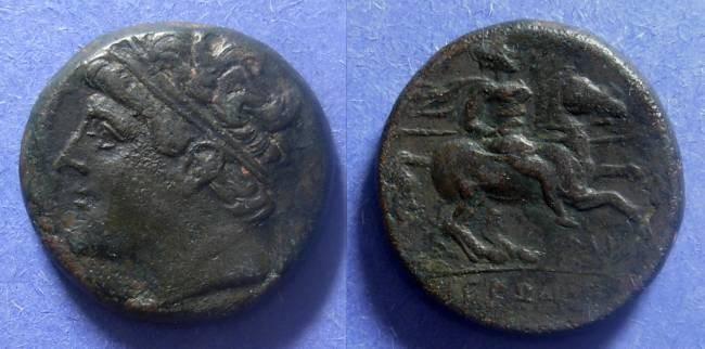 Ancient Coins - Syracuse Sicily, Hieron II 275-215 BC, AE26