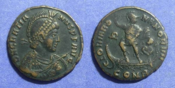 Ancient Coins - Roman Empire, Gratian 367-383, AE2