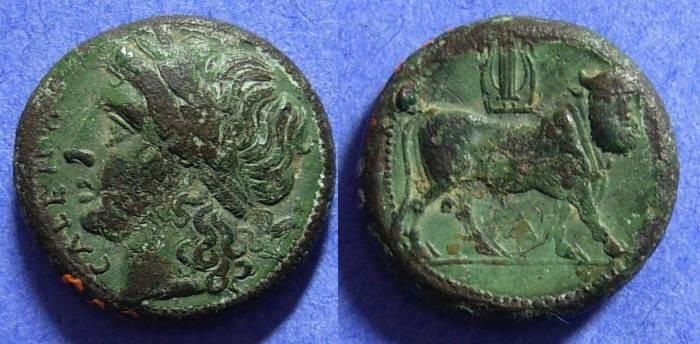 Ancient Coins - Cales Campania AE17 - 265-240 BC