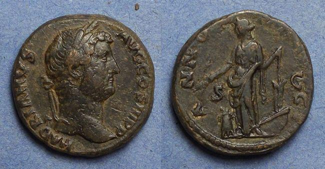 Ancient Coins - Roman Empire, Hadrian 117-138, As