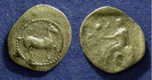 Ancient Coins - Larissa, Thessaly 440-400 BC, Obol