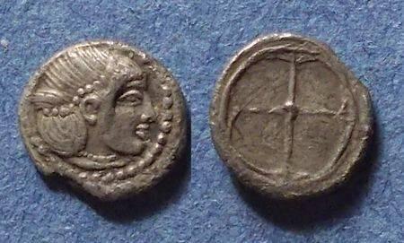 Ancient Coins - Syracuse, Sicily Circa 475-470 BC, Litra