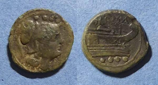 Ancient Coins - Roman Republic, Anonymous Circa 210 BC, Triens