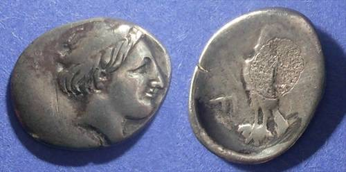 Ancient Coins - Olymipia, Elis 336-324 BC, Hemidrachm
