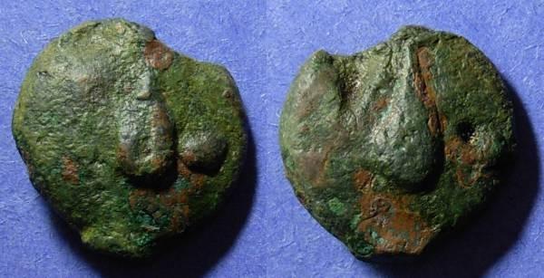 Ancient Coins - Roman Republic, Aes Grave Circa 270 BC, Uncia
