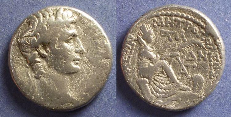 Ancient Coins - Roman Antioch, Augustus 27BC-14AD, Tetradrachm