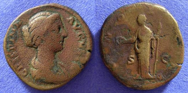 Ancient Coins - Crispina (Wife of Commodus) d. 184AD Dupondus