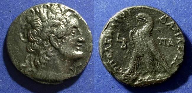 Ancient Coins - Egypt, Ptolemy IX 116-107 BC, Tetradrachm