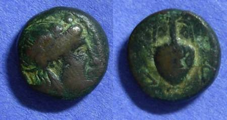 Ancient Coins - Cyclades Andros AE16 Circa 300-250BC – *Lindgren plate coin*