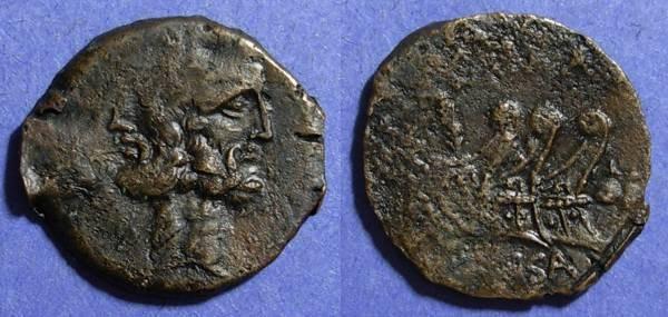 Ancient Coins - Roman Republic, C Vibius C f Pansa 90 BC, As
