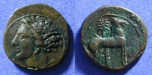 Ancient Coins - Carthage Zeugitana - AE17 - Circa 325 BC
