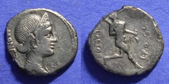 Ancient Coins - Roman Republic Plaetoria 2a Denarius 74 BC
