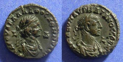 Ancient Coins - Roman Egypt Aurelian & Vabalathus 270-272 Tetradrachm