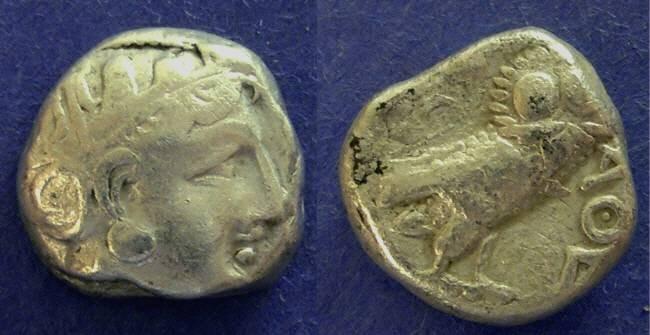 Ancient Coins - Athens, Attica 393-330 BC, Tetradrachm