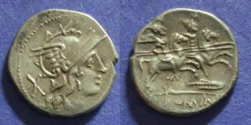 Ancient Coins - Roman Republic, Anonymous 206-195 BC, Denarius