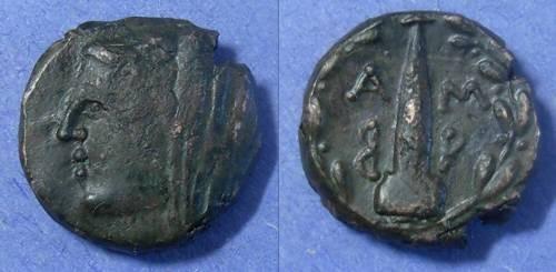 Ancient Coins - Ambrakia, Epeiros Circa 100 BC, AE17