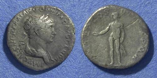Ancient Coins - Roman Empire, Trajan 98-117 AD, Denarius