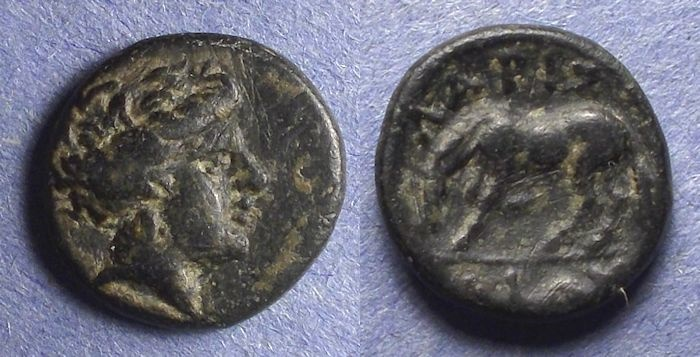 Ancient Coins - Thessaly, Larissa 400-344 BC, AE14