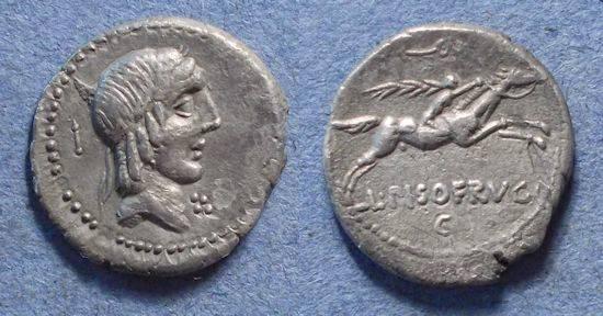 Ancient Coins - Roman Republic, L Calpurnius Piso Frugi 90 BC, Denarius
