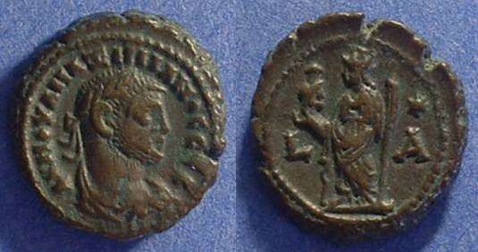 Ancient Coins - Roman Egypt - Maximianus 285-305 - Potin Tetradrachm