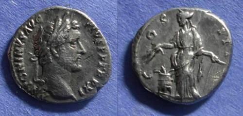 Ancient Coins - Roman Empire, Antoninianus Pius 138-161, Denarius