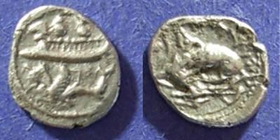 Ancient Coins - Byblos, Phoenicia 365-350 BC, 1/8 Shekel
