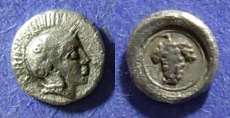 Ancient Coins - Methymna, Lesbos 450-406 BC, Hemiobol