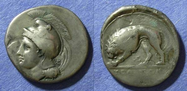 Ancient Coins - Lucania, Velia 330 BC, Nomos