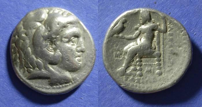 Ancient Coins - Macedonian Kingdom, Alexander III Struck 311-5 BC, Tetradrachm
