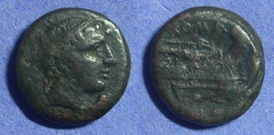 Ancient Coins - Roman Republic - Semiuncia 217-215BC