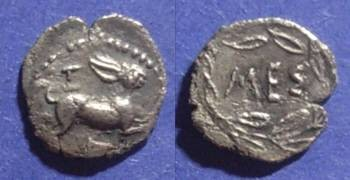 Ancient Coins - Messana, Sicily 461-396BC, Litra