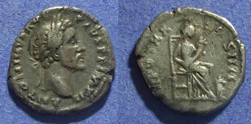 Ancient Coins - Roman Empire, Antoninus Pius 138-161 AD, Denarius