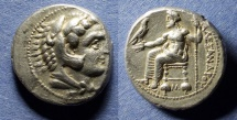 Ancient Coins - Macedonian Kingdom, Alexander III 336-323 BC, Lifetime Tetradrachm