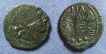 Ancient Coins - Roman Republic, Anonymous 91 BC, Quadrans