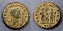 Ancient Coins - Roman Empire, Maximianus (as Senior Augustus) 305-7, 1/4 Follis